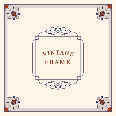 S'épanouit illustration de cadre ornement vintage