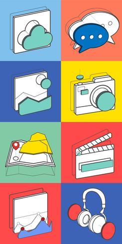 Ilustración de iconos de recreación