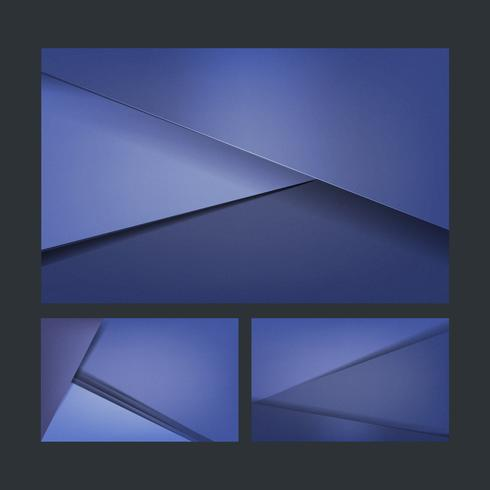 Set of background designs in blue