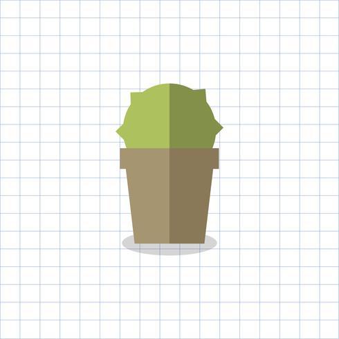 Illustrazione di un cactus in una pentola