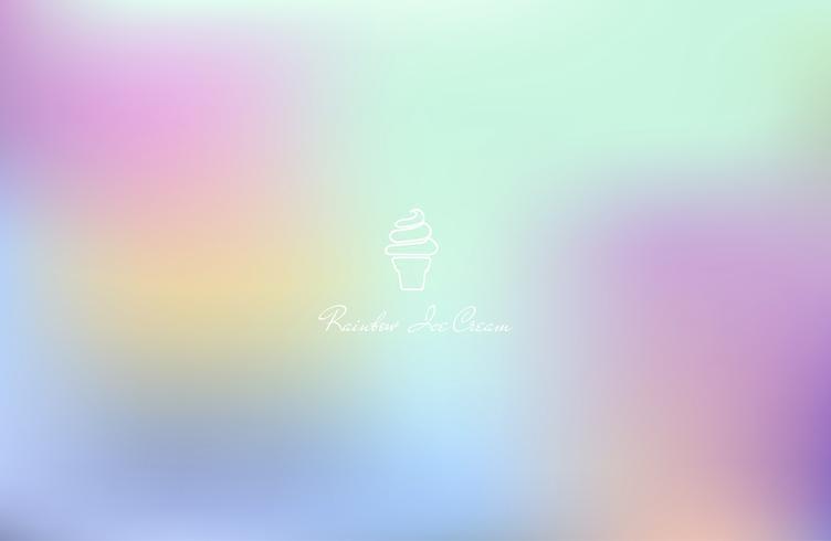 Vector de helado en el fondo colorido