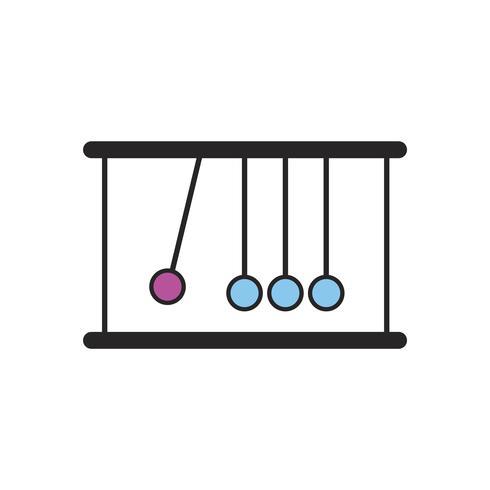 Illustrazione delle palle di culla di Newton
