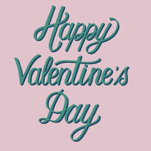 Handgeschreven stijl van Happy Valentine's Day typografie