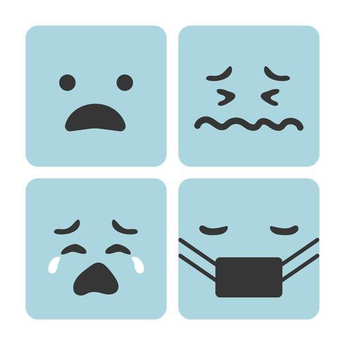 Conjunto de emoji sentimiento de expresión.