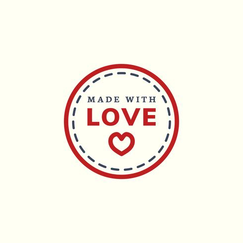 Made with love icon illustration