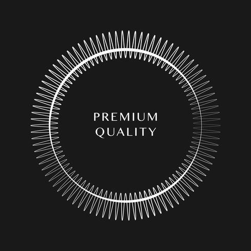 Vettore di disegno rotondo di ornamento Premium
