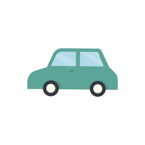 Illustration graphique de voiture verte
