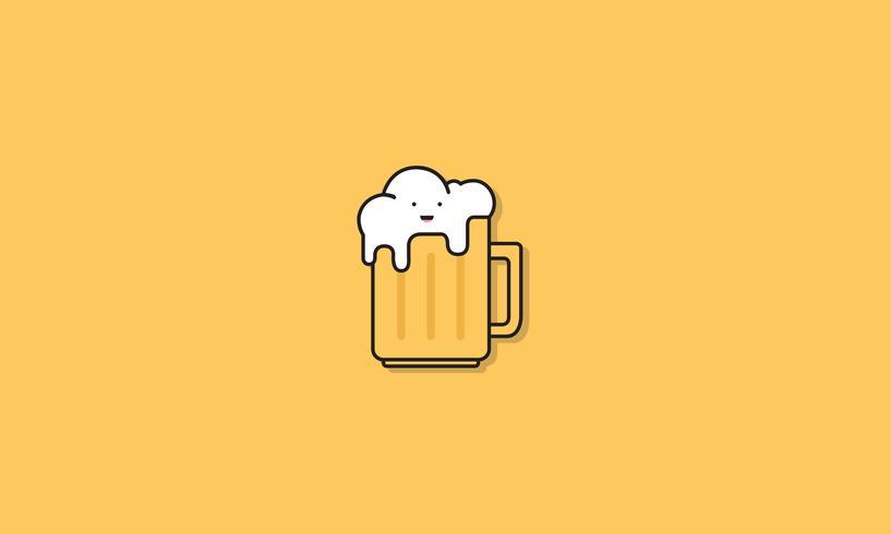 Espumoso vaso de cerveza