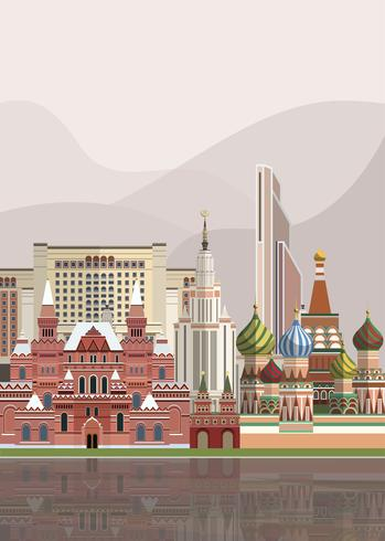 Ilustración de monumentos rusos