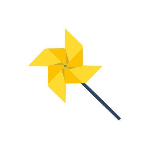 Yellow pinwheel graphic illustration