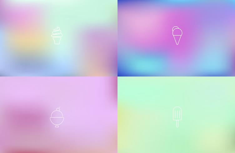 Vettore di gelato su sfondo colorato