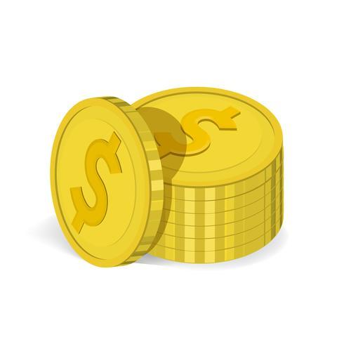 Vector de icono de pila de monedas
