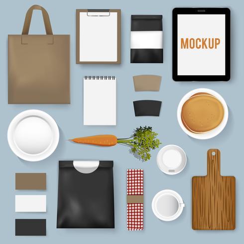 Illustrazione di vettore del caffè del caffè della raccolta dell'insieme del modello