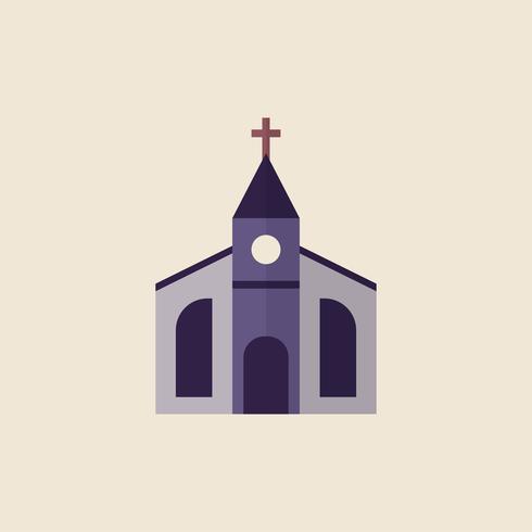 Ilustración de una iglesia cristiana