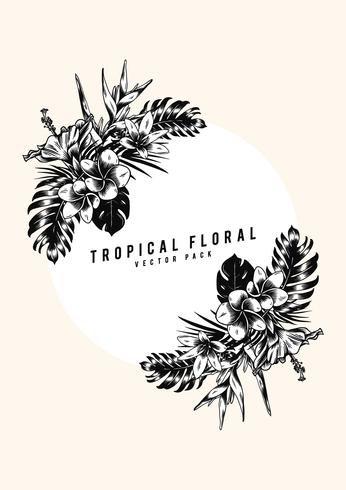 Illustrazione floreale tropicale