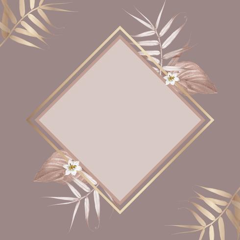 Tropical foliage frame