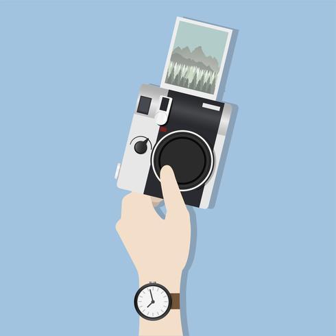 Illustration av handhållande kamera