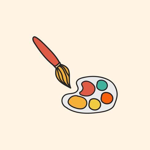Stationär illustration ritstil