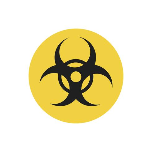 Ejemplo amarillo del gráfico de la muestra del círculo del Biohazard