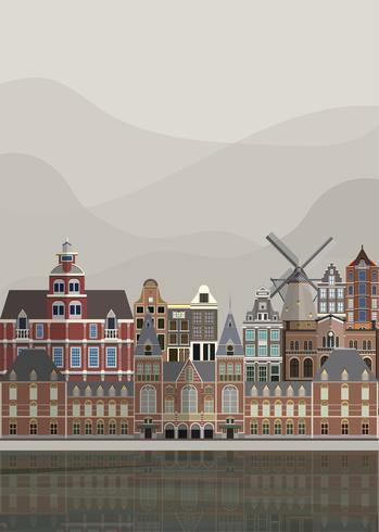 Ilustración de los hitos holandeses