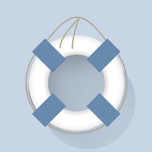 Ilustración de vector de vida nadar tubo