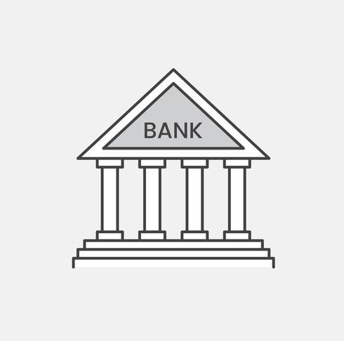 Illustration av bankikon