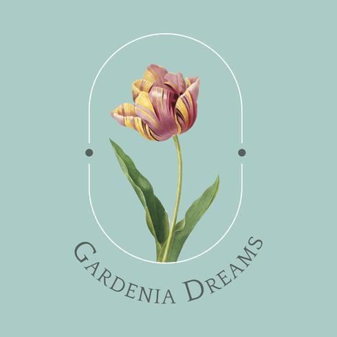 Blumenmarke Logo Vorlage