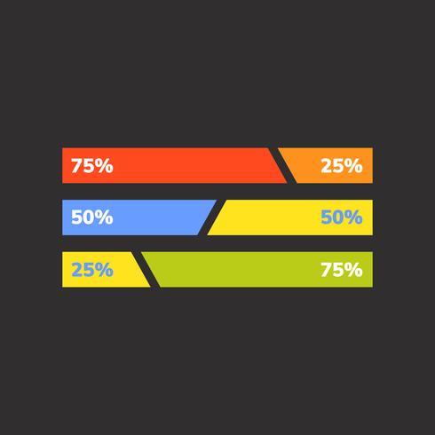 Percentage business bar chart vector