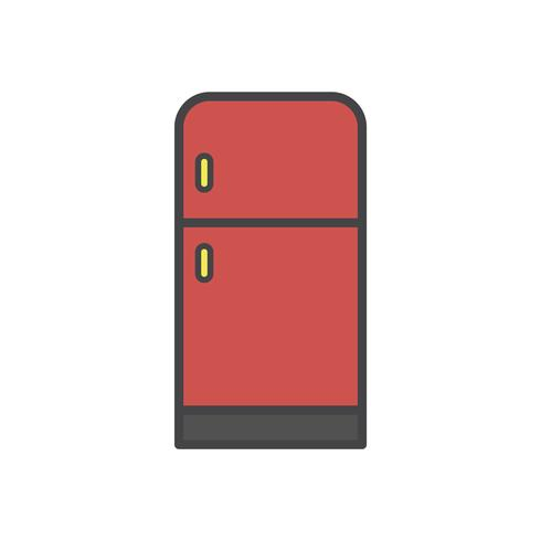 Illustration av ett kylskåp