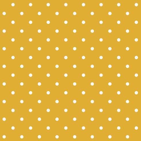 Vettore senza cuciture del modello di pois di giallo di senape