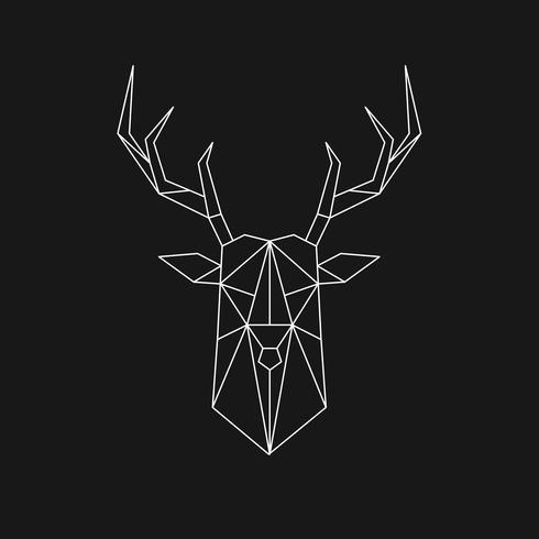 Illustrazione lineare di un cervo
