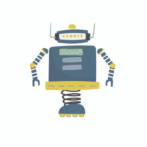 Abbildung der Robotervektorgraphik