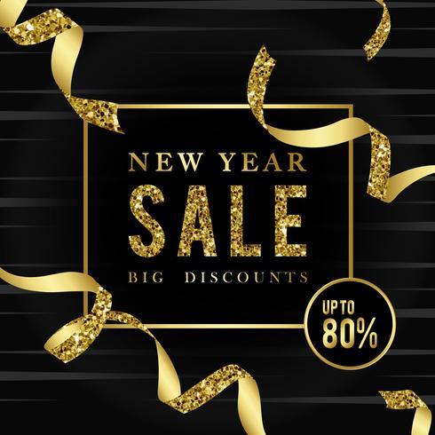 Verkauf des neuen Jahres 80% weg vom Zeichenvektor