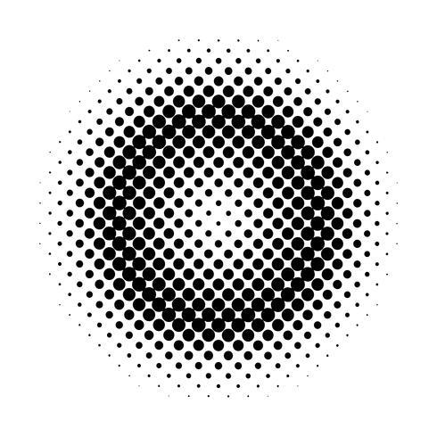 Schwarzer Halbtonausweis auf weißem Hintergrundvektor