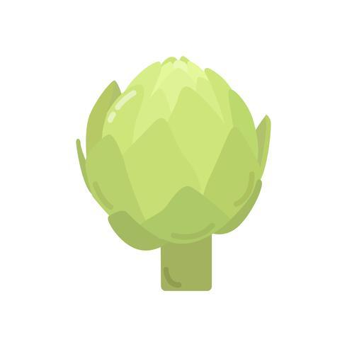 Ilustración gráfica saludable alcachofa verde