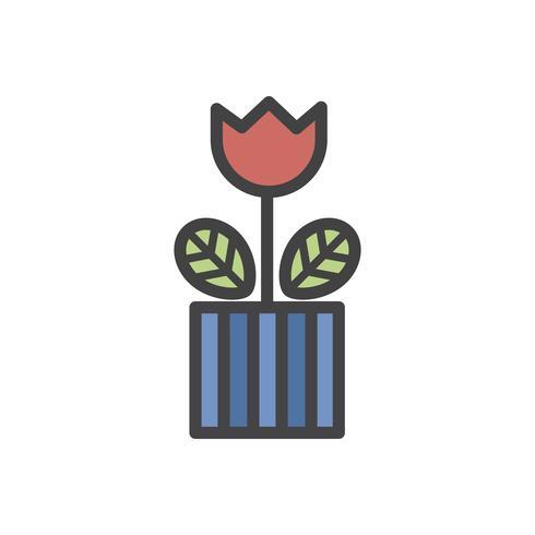 Abbildung einer Tulpenblumenanlage in einem Topf