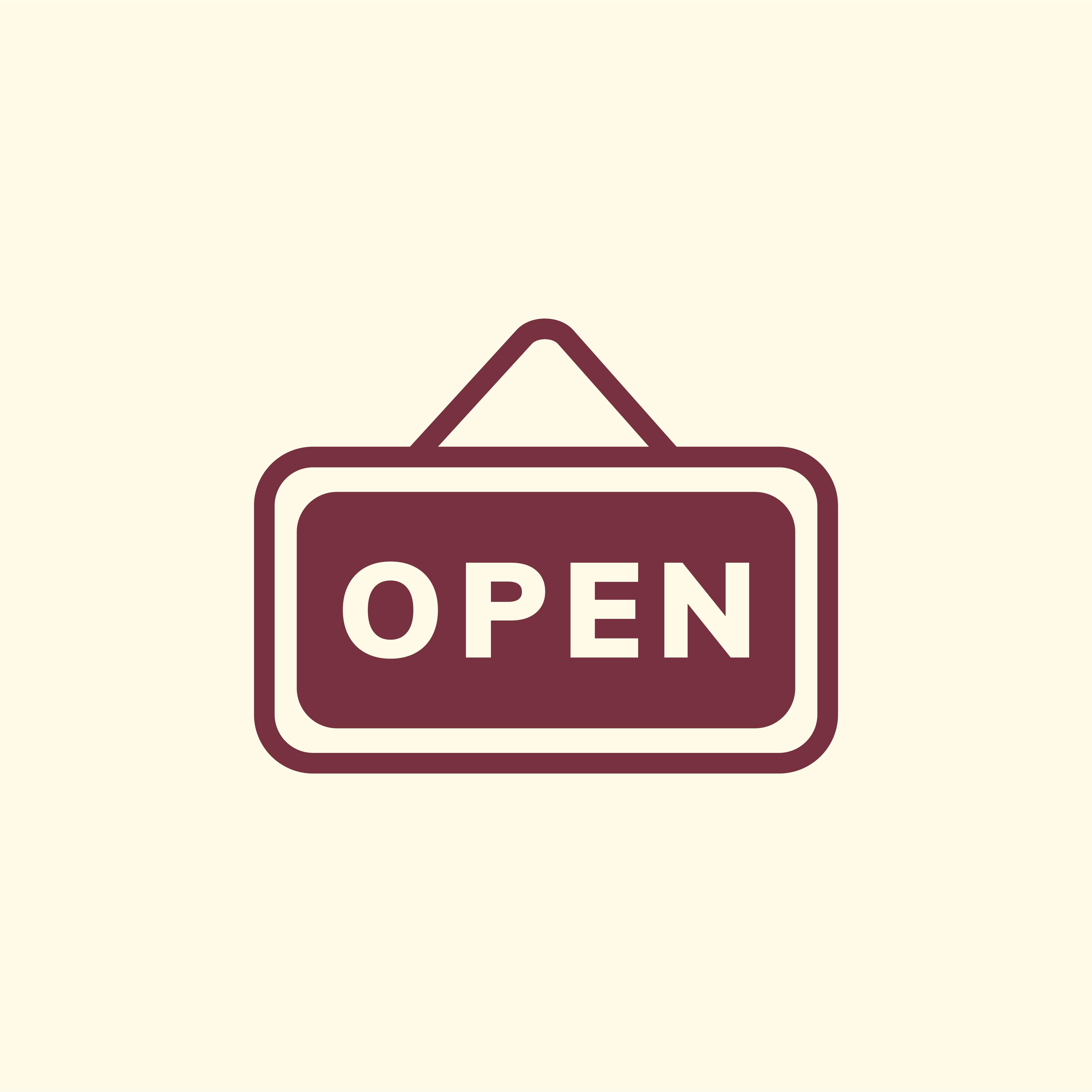 Open Sign Board Icon Vector Download Free Vectors