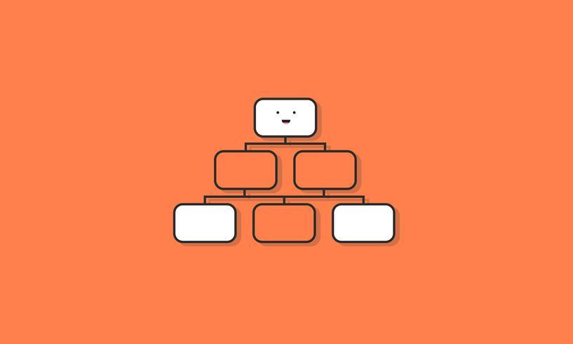 Organigramme graphique icône Concept de vecteur