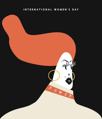 International women's day concept illustration