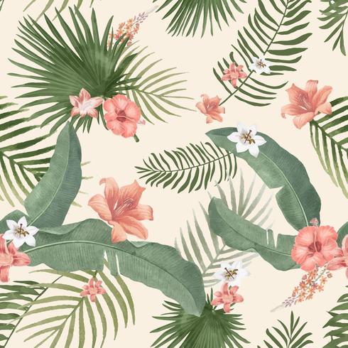 Tropische laub illustration