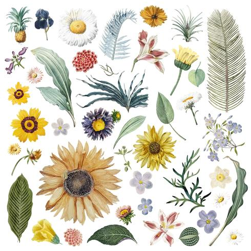 Bloemenpatroon als achtergrond