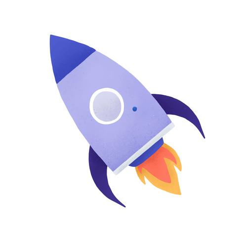 Rocket-Social-Media-Ikonenvektor