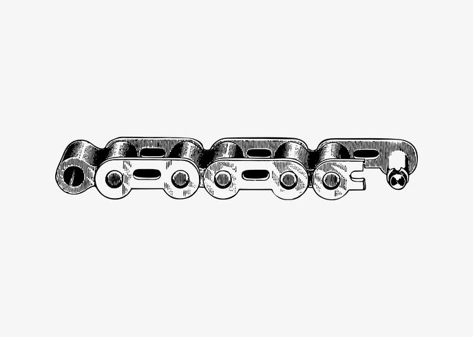 Metal bicycle chain
