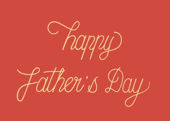Ejemplo feliz del diseño de la tipografía del día de padre
