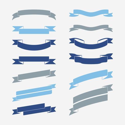 Conjunto de vetores de bandeira azul