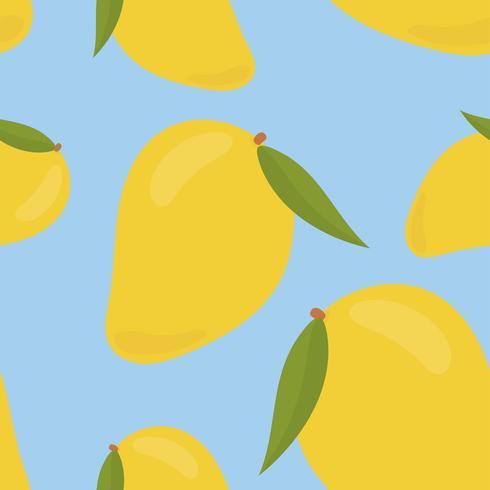 Colorful hand drawn mango pattern