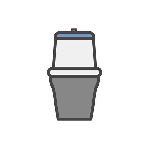 Illustration av en toalettskål