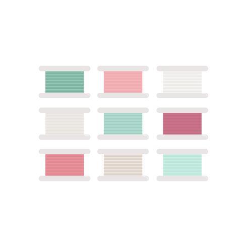 Linha colorida rola a ilustração do ícone