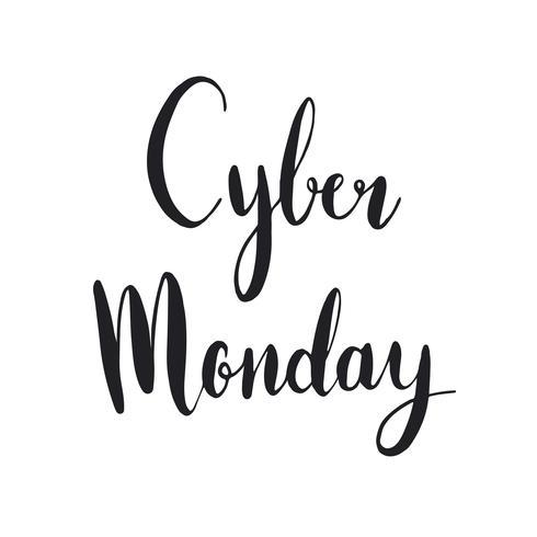 Vetor de estilo de tipografia Cyber Monday