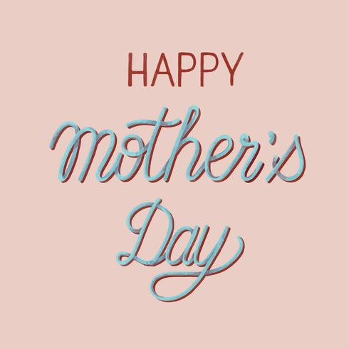 Stile scritto a mano della tipografia di Happy Mother's Day